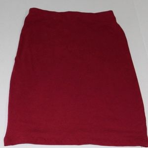 Madrag Burgundy Midi Pencil Skirt Womens (M)